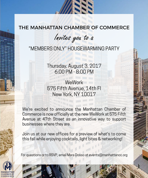 Manhattan Chamber Members Only House Warming