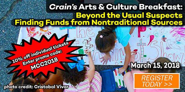Crain's Arts & Culture Breakfast: Finding Funds from Nontraditional Sources
