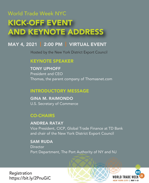 World Trade Week NYC Kick-Off Event and Keynote Address