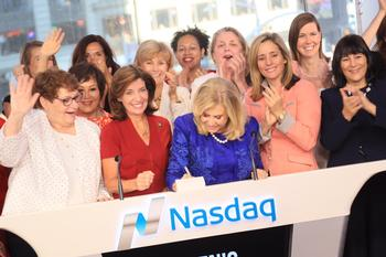 Chamber president joins other women leaders to ring NASDAQ opening bell for Women's Equality Day